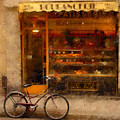 Boulangerie And Bike 2 by Mick Burkey
