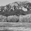 Boulder Colorado Flatiron View From Jay Rd Bw by James BO Insogna
