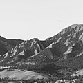 Boulder Colorado Flatirons And Cu Campus Panorama Bw by James BO Insogna