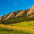 Boulder Colorado Flatirons Sunrise Golden Light by James BO Insogna