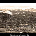 Boulder Colorado Sepia Panorama Poster Print by James BO  Insogna