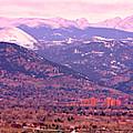 Boulder Colorado Sunrise Panorama by James BO Insogna