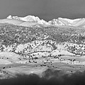Boulder County Continental Divide Panorama Bw by James BO Insogna