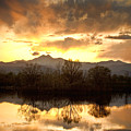 Boulder County Sunset Reflection by James BO  Insogna