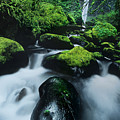 Boulder Elowah Falls Columbia River Gorge Nsa Oregon by Dave Welling