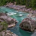 Boulder In The River - Slovenia by Stuart Litoff
