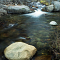 Boulder In The Stream by Rick Strobaugh