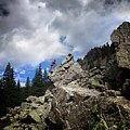 Bouldering On The Flint Creek Trail - Weminuche Wilderness by Bruce Lemons