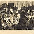 Boulevard Du Temple A Minuit by Charles Maurand After Honor? Daumier