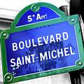 Boulevard Saint-michel Paris by John Rizzuto
