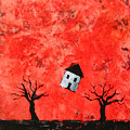 Bouncing House Fiery Sky by Pauline Lim