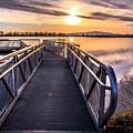 Bountiful Lake Pier by Gina Herbert