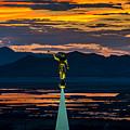 Bountiful Sunset - Moroni Statue - Utah by Gary Whitton