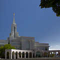 Bountiful Utah Temple Entrance by Richard Lynch