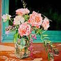 Bouquet De Roses - Marrakech by Francoise Chauray