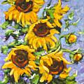 Bouquet Del Sol Sunflowers by Richard T Pranke