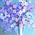 Bouquet In Silver Vase by Marta Styk