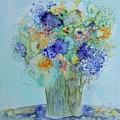 Bouquet Of Blue And Gold by Joanne Smoley