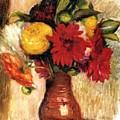 Bouquet Of Flowers In An Earthenware Pitcher by Renoir PierreAuguste