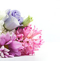 Bouquet Of Fresh Flowers Isolated On White by Michal Bednarek