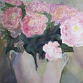 Bouquet Of Pink Peonies by Jeneane Mixon