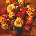 Bouquet Of Roses 1 by Renoir PierreAuguste