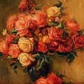 Bouquet Of Roses 1900 by Renoir PierreAuguste