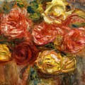 Bouquet Of Roses In A Vase 1900 by Renoir PierreAuguste