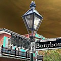 Bourbon And St. Phillip Streets by Kevin Flynn