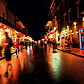 Bourbon Street At Dusk by Thomas R Fletcher