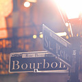 Bourbon Street New Orleans La by Monika Wlodarska