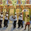 Bourbon Street Second Line New Orleans by Richard T Pranke