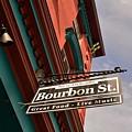 Bourbon Street Sign by Bob Sample
