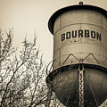 Bourbon Water Tower - Sepia - Vintage Whiskey Art by Gregory Ballos