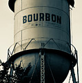 Bourbon Whiskey Vintage Water Tower - Missouri - Sepia by Gregory Ballos