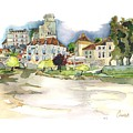 Bourdeilles, On The River Dronne,  Dordogne by Joan Cordell
