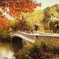 Bow Bridge Autumn Crossing by Jessica Jenney