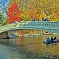 Bow Bridge In Central Park by Allan Einhorn