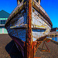 Bow Of Old Worn Boat by Garry Gay