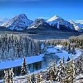 Bow River Parkway Blue Skies by Adam Jewell