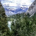 Bow River Valley In The Canadian Rockies by Don Berg