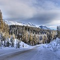 Bow Valley Parkway Winter Conditions by Adam Jewell