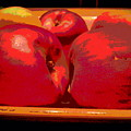 Bowl Of Apples Close Up by Barbara Jacobs