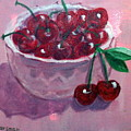 Bowl Of Cherries by Lia  Marsman