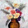 Bowl Of Flowers by Jacqui Kilcoyne