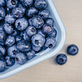 Bowl Of Fresh Blueberries by Edward Fielding