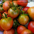 Bowl Of Heirloom Tomatoes by Kathy Barney