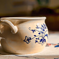 Bowl With Blue Decoration by Leif Sohlman