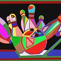 Bowling Sports Fans Decoration Acrylic Fineart By Navinjoshi At Fineartamerica.com  Down Load  Jpg F by Navin Joshi