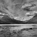 Bowman Lake Black And White Panoramic by Adam Jewell